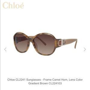 Chloe Large Round Tortoise Sunglasses nwot